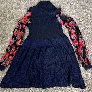 Free People Flower sleeve Dress